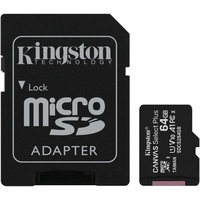 Kingston Canvas Select Plus microSDXC 64GB (с адаптером)