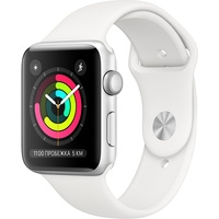 Apple Watch Series 3 42 мм (серебристый алюминий/белый)