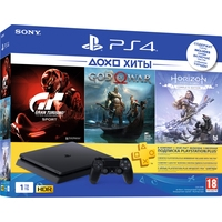 Sony PlayStation 4 Slim 1TB GT Sport + God of War + Horizon Zero Dawn Image #1