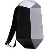 Beaborn Polyhedron PVC Backpack (black)