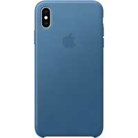 Apple Leather Case для iPhone XS Max Cape Cod Blue