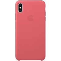 Apple Leather Case для iPhone XS Max Peony Pink