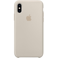 Apple Silicone Case для iPhone XS Stone