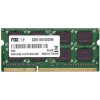 Foxline 8GB DDR3 SO-DIMM PC3-12800 [FL1600D3S11-8G]