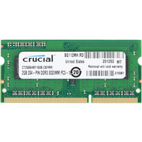 Crucial 2GB DDR3 SO-DIMM PC3-12800 (CT25664BF160B)