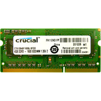 Crucial 4GB DDR3 SO-DIMM PC3-12800 (CT51264BF160BJ)