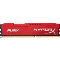 HyperX Fury Red 8GB DDR3 PC3-10600 HX313C9FR/8